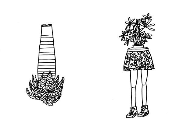 juffrouw kamerplant educatieve illustraties creatief denken saskia schreven