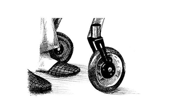 Moderne Sagen - Het Einde Van Het Journaal - Saskia Schreven - Illustratie - Rollator wiel