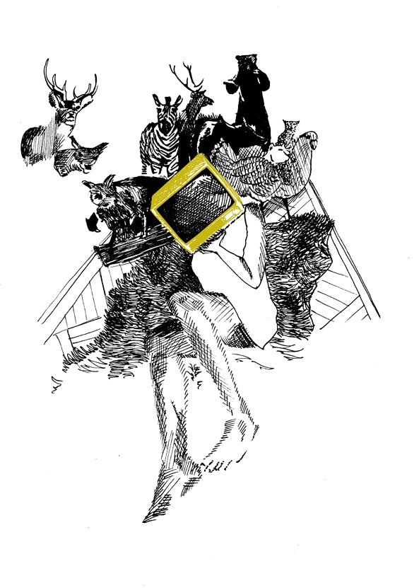 Moderne Sagen - Het Einde Van Het Journaal - Saskia Schreven - Illustratie - Boze buurman
