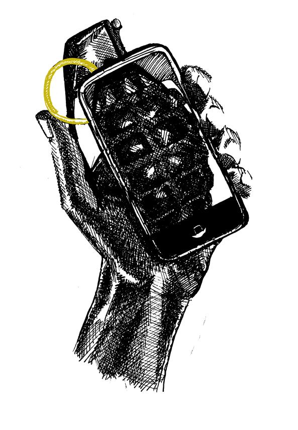 Moderne Sagen - Het Einde Van Het Journaal - Saskia Schreven - Illustratie - iPhone Granaat